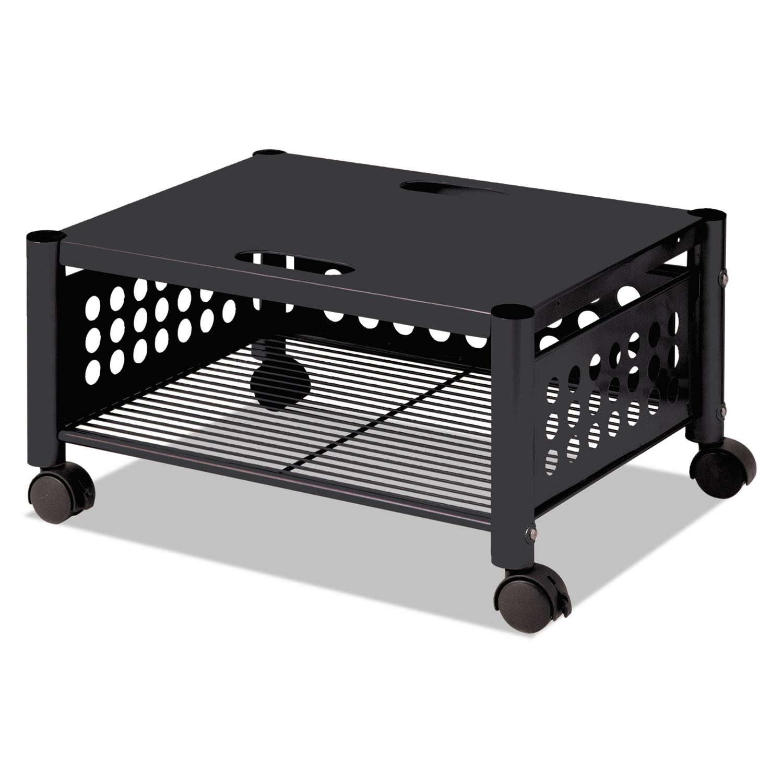 Underdesk Machine Stand, One-Shelf, 21 1/2w x 17 7/8d x 11 1/2h, Black
