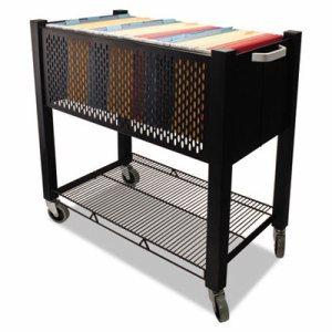 InstaCart File Cart, 14-1/4w x 28-1/2d x 27-3/4h, Black