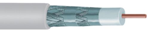 VEXTRA V621QWB / V621QB Quad Shield RG6 Solid Copper Coaxial Cable, 1,000ft (White)