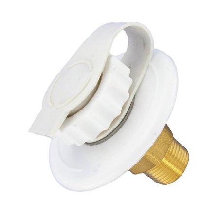 WATER INLET, 2-3/4IN PLASTIC FLANGE, WHITE, LEAD-FREE, BULK
