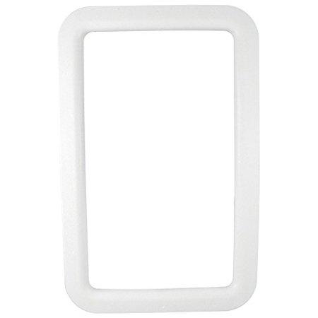 ENTRANCE DOOR WINDOW FRAME, EXTERIOR, WHITE, BOXED