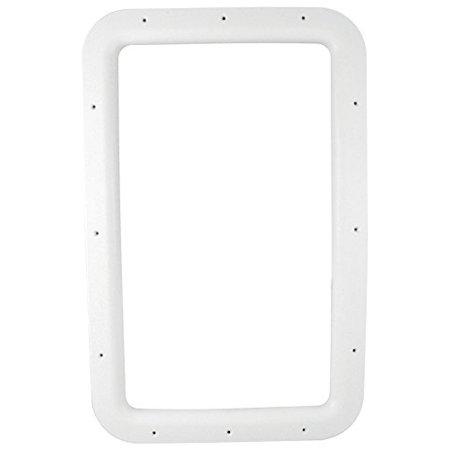 ENTRANCE DOOR WINDOW FRAME, INTERIOR, WHITE BOXED