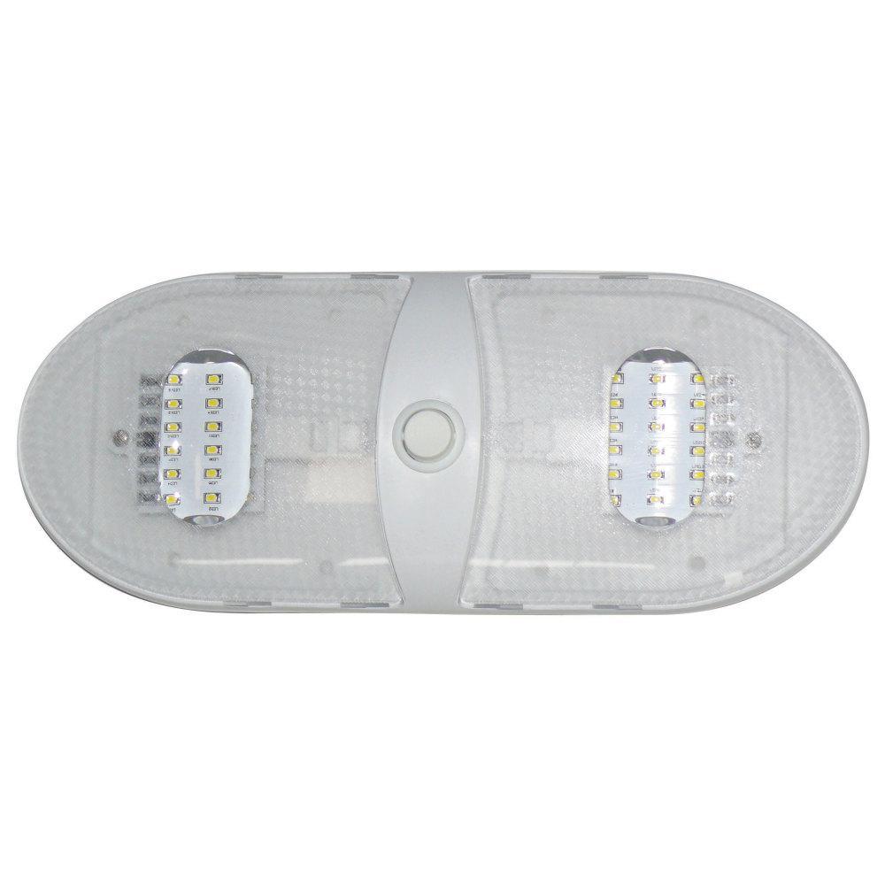 SLIM LINE DOUBLE LED DOME LIGHT - WARM WHITE