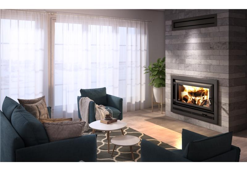 Ventis HE275CF Large Size Single Door Wood Fireplace