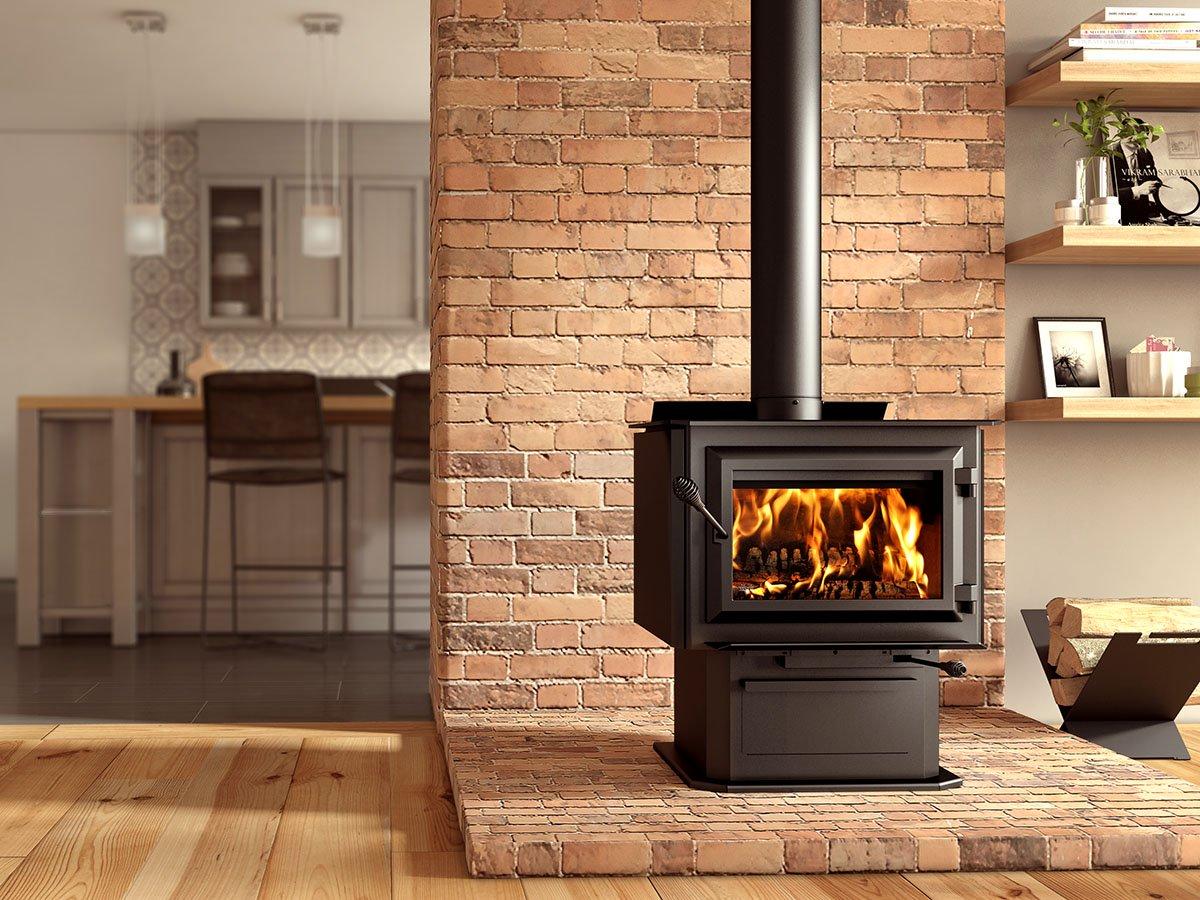 Ventis HES240 Large Size Single Door Wood Burning Fireplace Stove