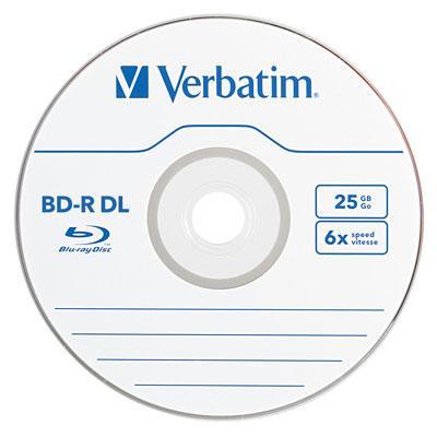 BD R DL 50GB 6X 25pk Spindle