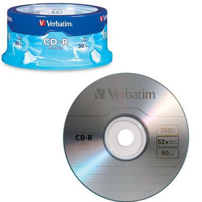 CD-R 80min 700MB 52X 30 pk