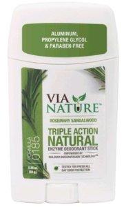 Via Nature Deodorant Stick Fragrance Free (1x225 Oz)