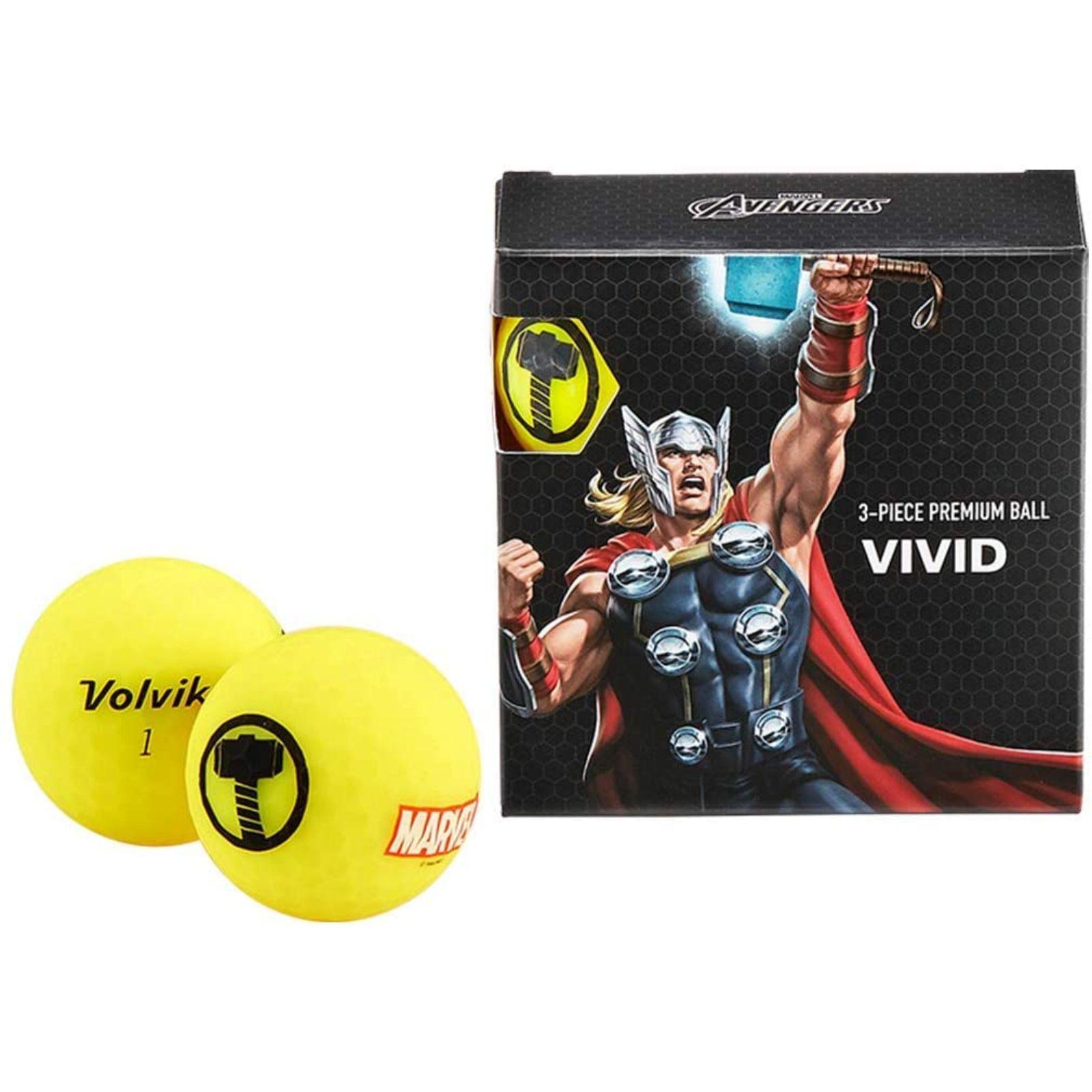 Volvik Marvel Golf Balls 4pk-Thor