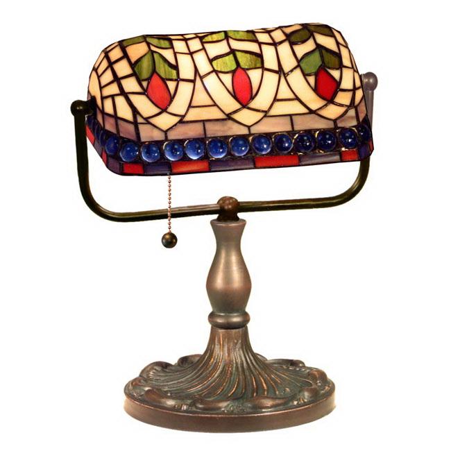 Tiffany-Style Art Glass Desk Lamp