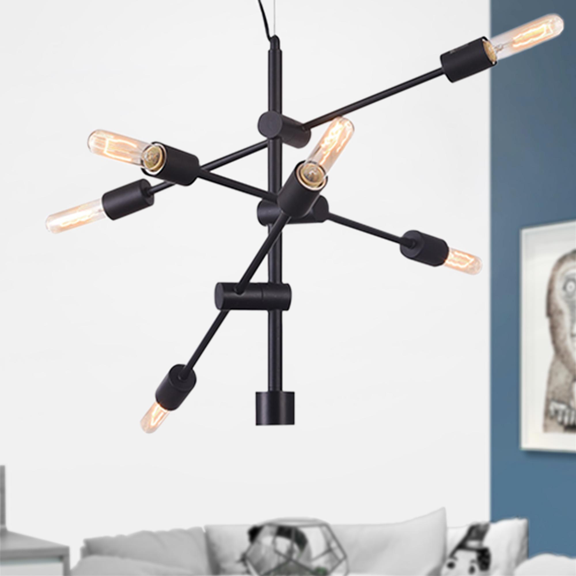 Adar Matte Black 6-light Chandelier