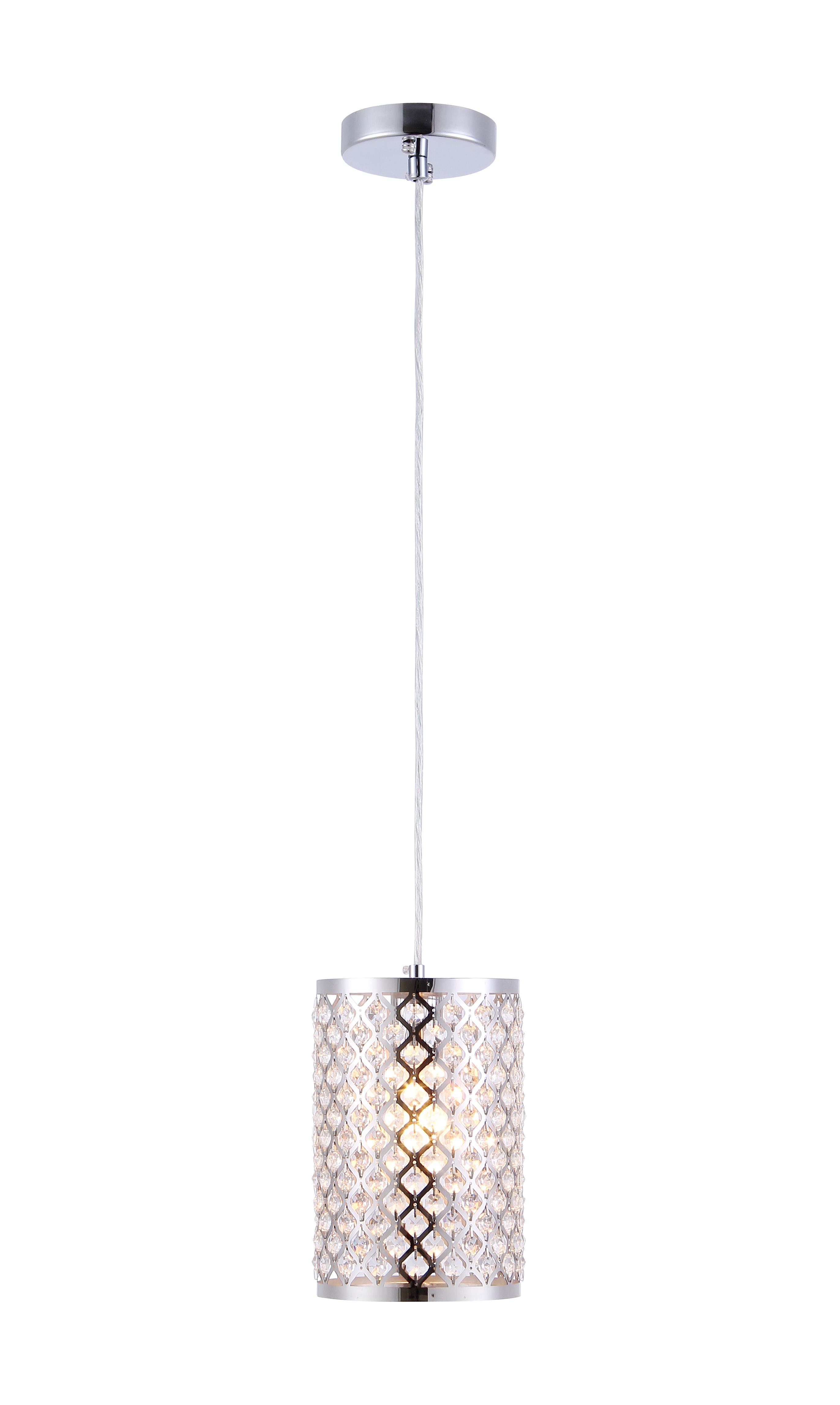 Kalyca 1-light Chrome 6-inch Crystal Pendant Lamp