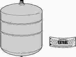 "WATTS� HYDRONIC EXPANSION TANK, MODEL #ETX-15, 2.1 GALLON, 1/2"" IPS"