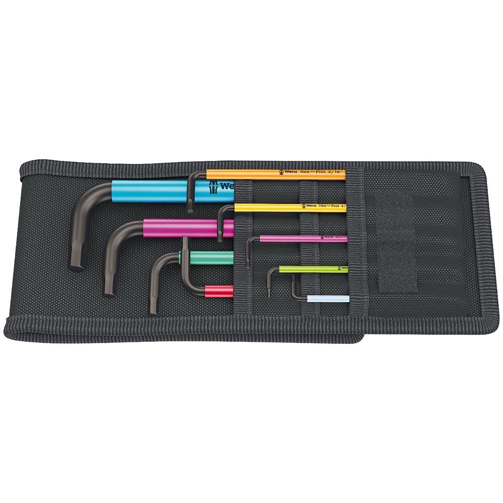 Wera Hex-Plus Color Coded SAE L-Key 8 Piece Set