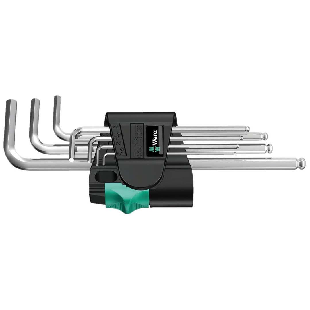 Wera Hex-Plus Chrome-Plated Long Shaft Metric L-Key Allen Wrench (7-Piece Set)