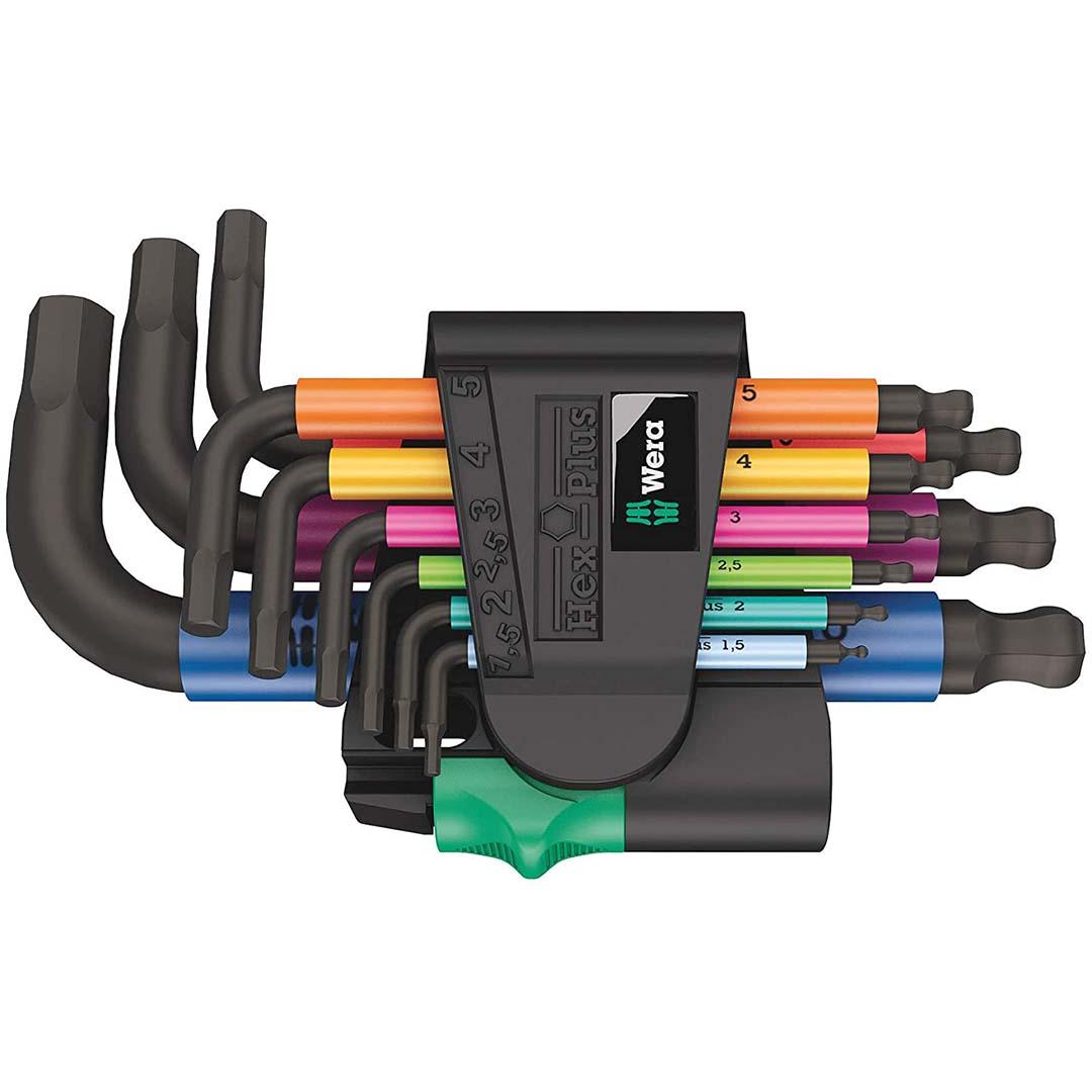 Wera Long Shaft Metric Allen Wrench Set (9-Piece Set)