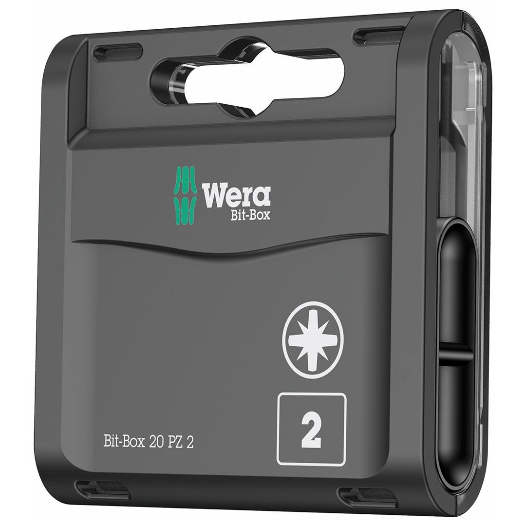 Wera Bit-Box Holds (20) PZ2x25 mm Bits