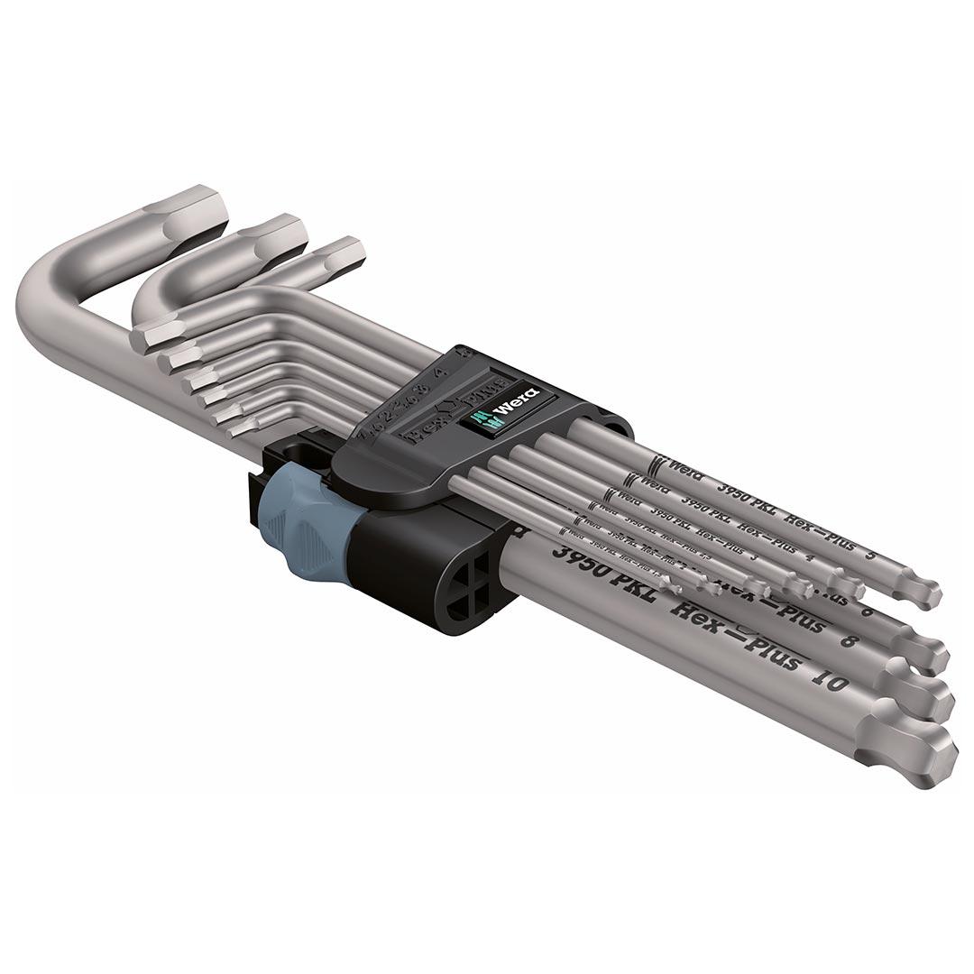 Wera Metric Hex-Plus Stainless Steel L-Key Wrench Set (9-Piece Set)