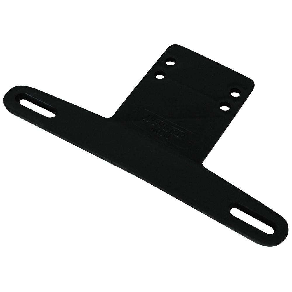 Wesbar License Plate Bracket Plastic Black
