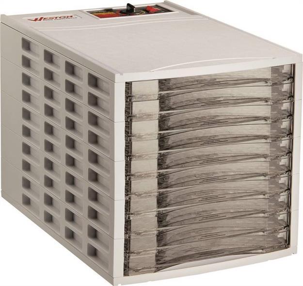 Vegikiln 75-0201-W Food Dehydrator, 600 W, 120 V, 10 Tray, White