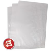Weston 30-0106-W Vacuum Bag, 10 in L x 6 in W x 3 mil T, Plastic, Clear