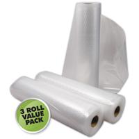 Weston 30-0202-W Vacuum Bag, 18 ft L x 11 in W x 3 mil T, Plastic, Clear
