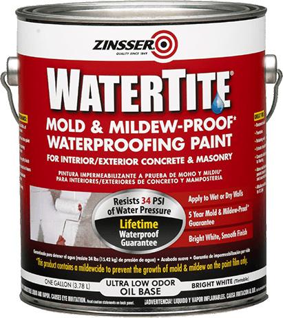 Watertite Mold/Mildew-Proof Waterproofing Paint 1 Gallon