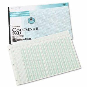 Accounting Pad, 13 Eight-Unit Columns, 11 x 16 3/8, 50-Sheet Pad