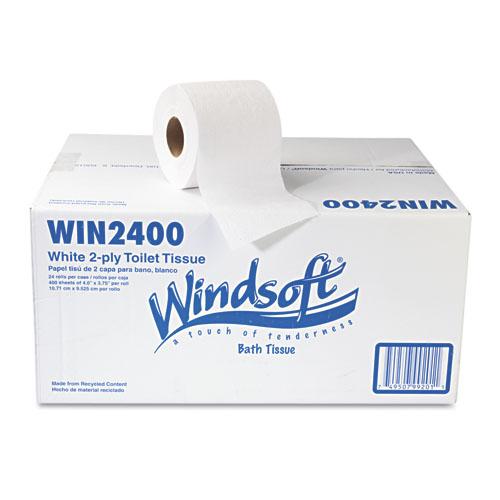 Windsoft 2 Ply Standard Toilet Paper, 24 Rolls