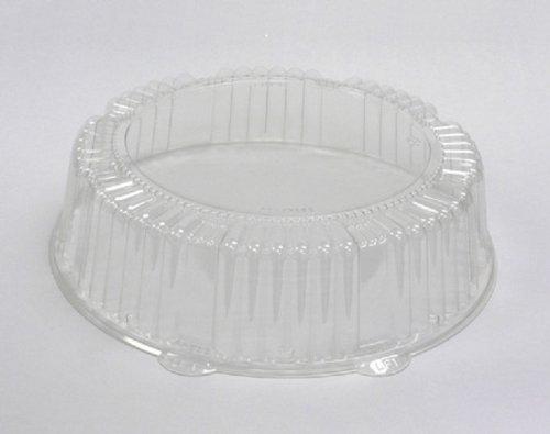 "Caterline Dome Lids, Plastic, 12"" Diameter x 2-3/4""High, Clear"