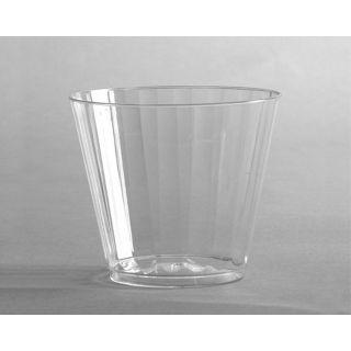Classicware Tumblers, 9 oz, Plastic, Clear, Rocks Glass, 16/Bag, 15 Bag/Carton