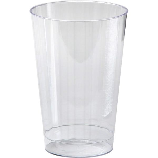 Classicware Tumblers, 10 oz, Plastic, Clear, Tall, 16/Bag, 15 Bag/Carton