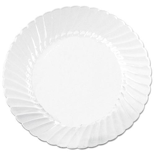 Classicware Plates, Plastic, 10.25 in, Clear, 12/Bag, 12 Bag/Carton