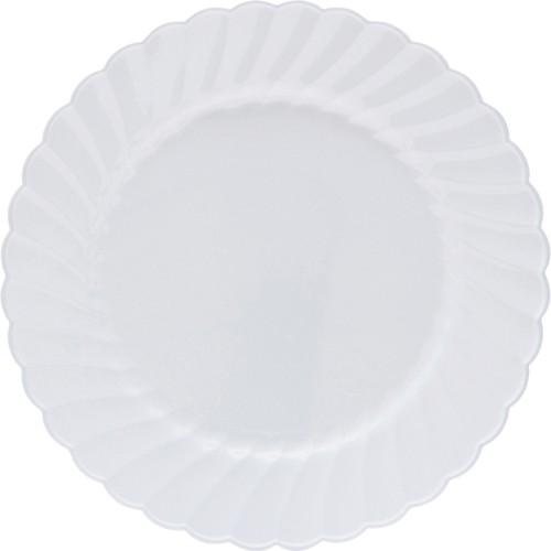 Classicware Plastic Dinnerware, Plates, Plastic, White, 9in, 12/Bag, 15/Carton