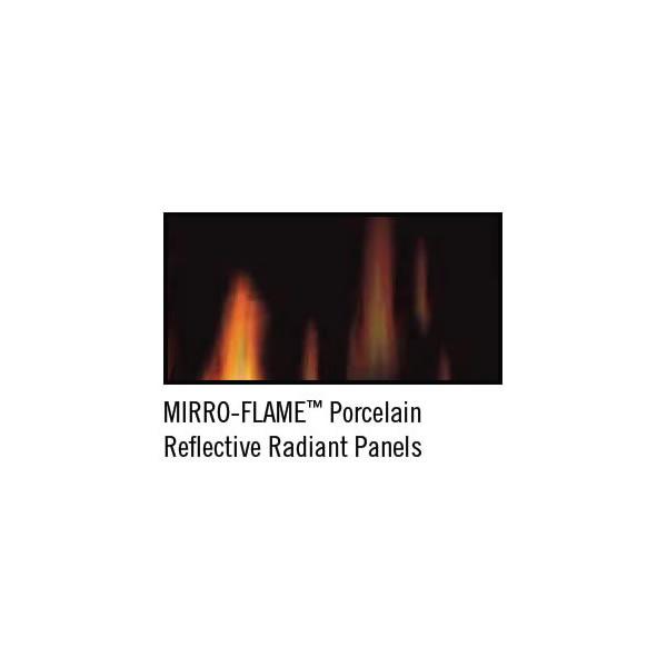 MIRRO-FLAME Porcelain Reflective Radiant Panels - PRPZC