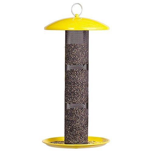 Perky Pet NO/NO Straight Sided Tube Wild Bird Finch Feeder, 1-1/2 lb Capacity, Yellow