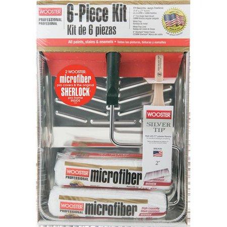 KIT RLR MICROFIBER 3/8X9IN 6PC