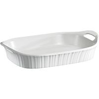 Corningware 1105936 Oblong Casserole Dish, 3 qt Capacity, Stoneware, French White