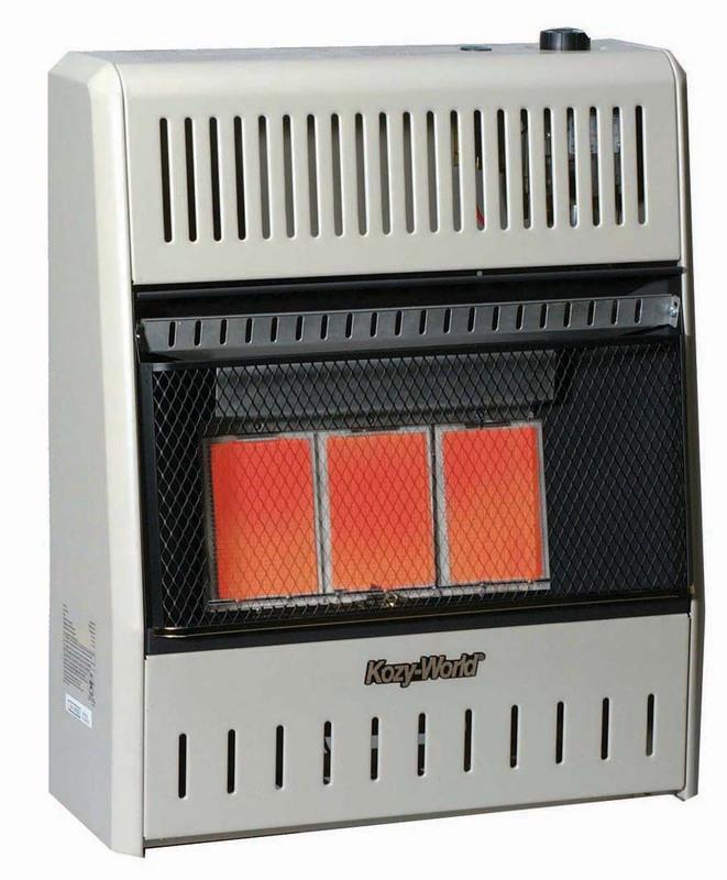 KWP392 3 Plaque Propane Wall Heater