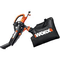 Worx WG505 Blower/Vacuum/Mulcher With Metal Impeller, Adjustable, 120 - 240 V, 12 A