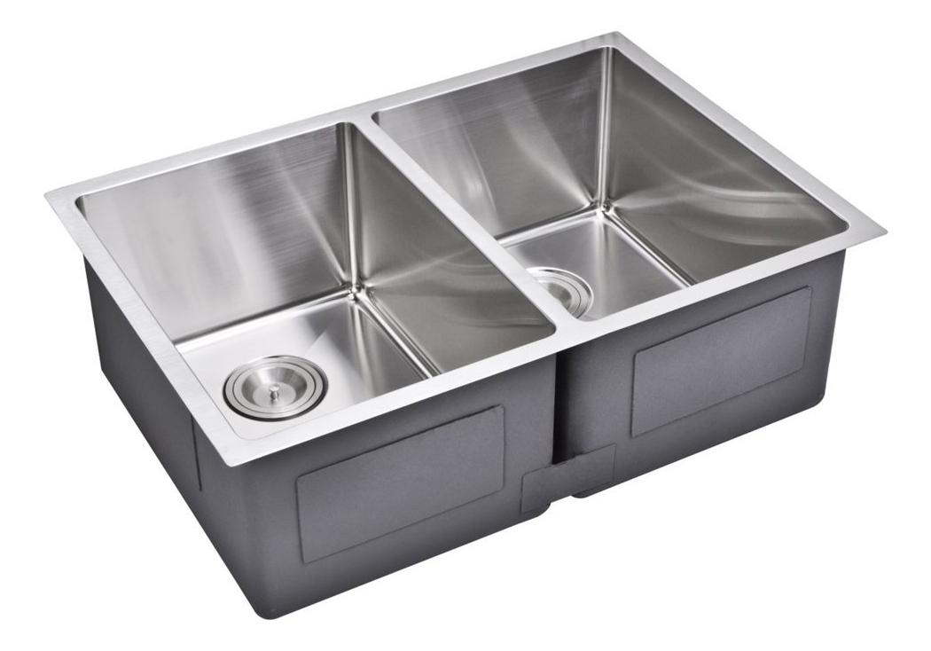"""29"""" X 20"""" 15 mm Corner Radius 50/50 Double Bowl Stainless Steel Hand Made Undermount Kitchen Sink, Pr"""