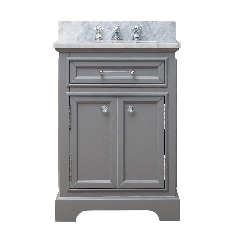 "Water Creation Derby 24G 24"" Cashmere Grey Single Sink Bathroom Vanity"