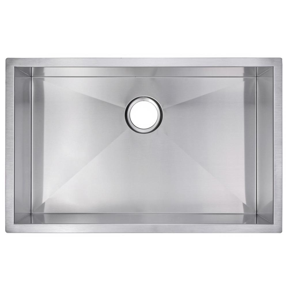 30 Inch X 19 Inch Zero Radius Single Bowl Stainless Steel Hand Made Undermount Kitchen Sink