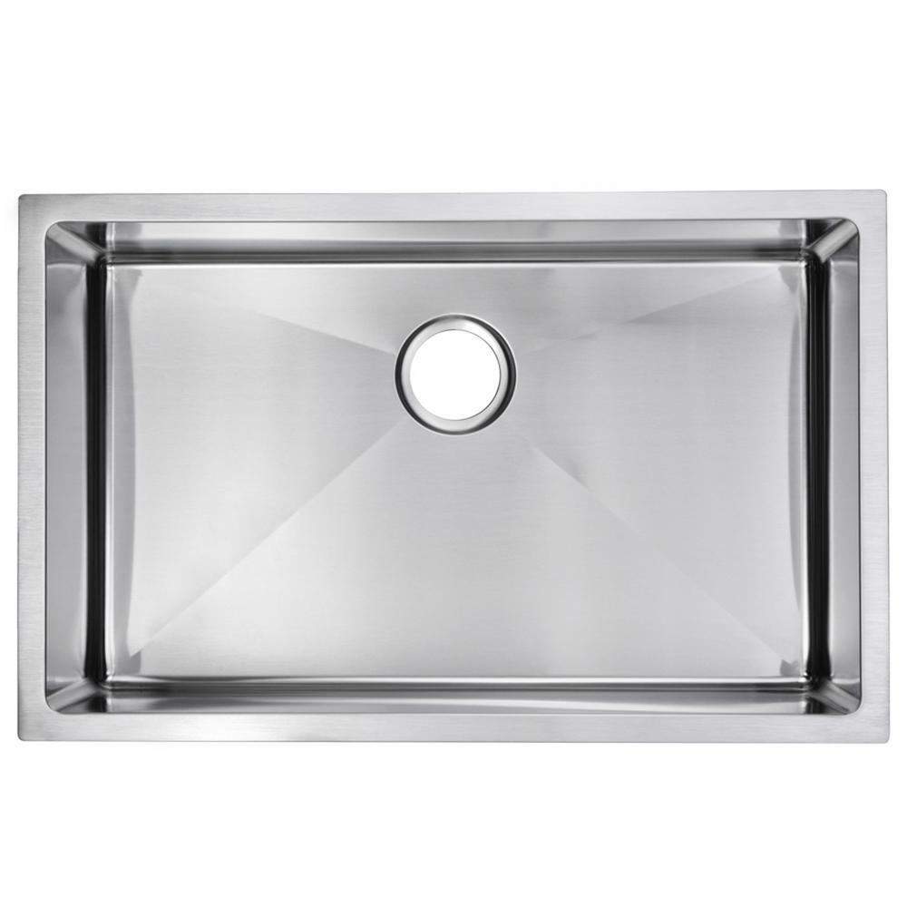 30 Inch X 19 Inch 15mm Corner Radius Single Bowl Stainless Steel Hand Made Undermount Kitchen Sink