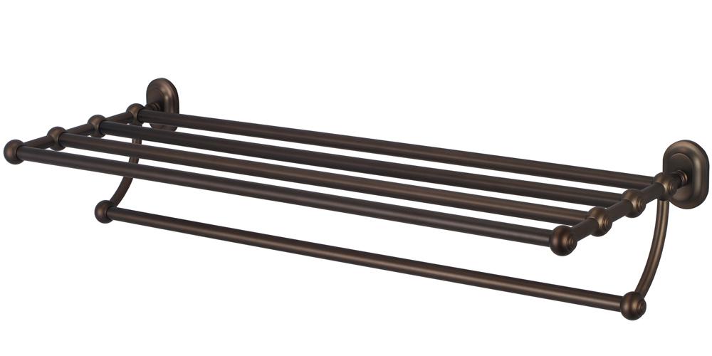 Multi-Purpose Bath Train Rack For Classic Bathroom, Oil Rubbed Bronze Finish With Protective Coating