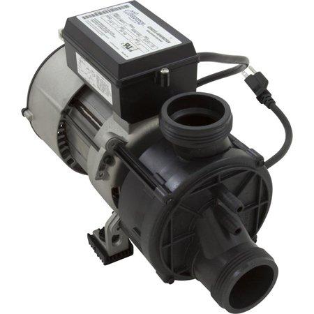 "Pump, Waterway, Genesis, 1.0HP, 115V, 9.0 Amps, 1-Speed, 1-1/2""MBT w/Air Switch & NEMA Plug"