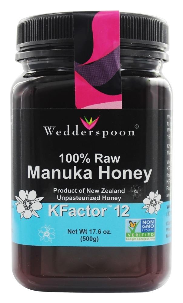 Wedderspoon Honey  Manuka  100 Percent Raw  KFactor 12  176 oz
