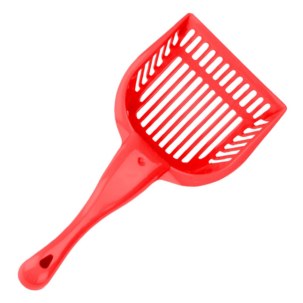 Red Cat Litter Scoop with Reinforced Comfort Handle