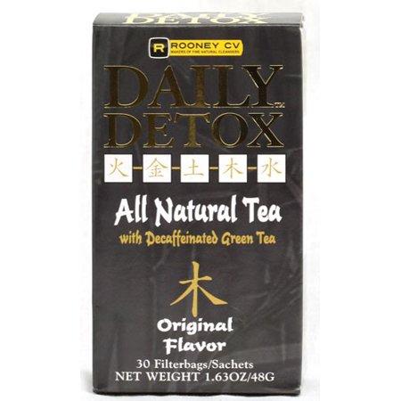 Wellements Rooney CV Daily Detox All Natural Decaffeinated Tea Original 30 Sachet