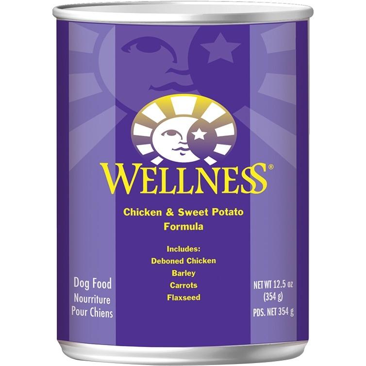 Wellness Sweet Potato & Chicken Canned Dog Food (12x125 Oz)